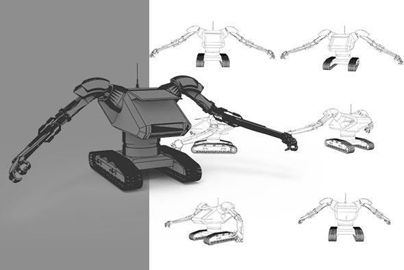 Robot Backhoe Excavator