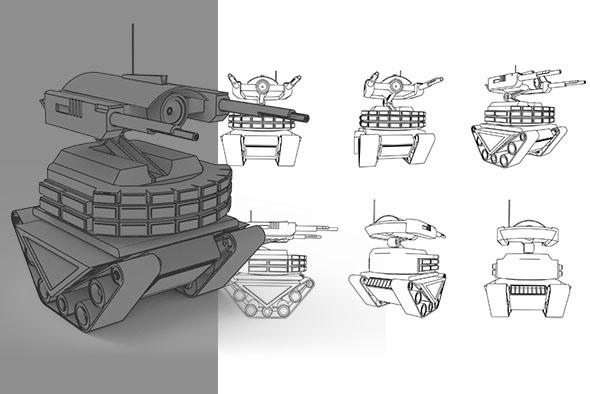 Robot Birag Tank
