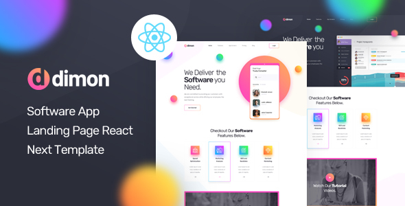 Dimon - React Next App Landing Page Template