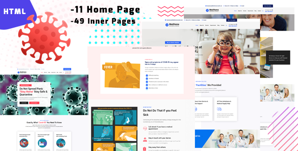 MedHome -  Medical & Corona(covid-19) Virus Protection Template