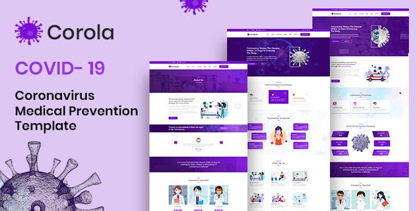 Corola - Coronavirus (COVID-19) Medical Prevention HTML Template