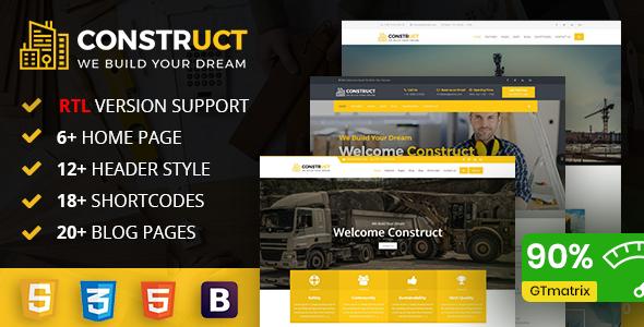 Construct : Construction, Building & Maintenance Business Template