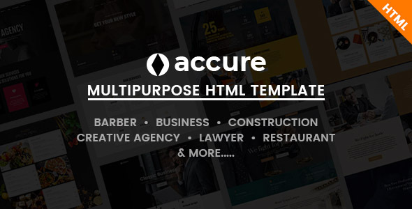 Accure - Multi Purpose Bootstrap 4 HTML Template