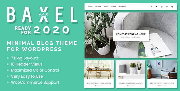 Baxel - Minimal Blog Theme for WordPress