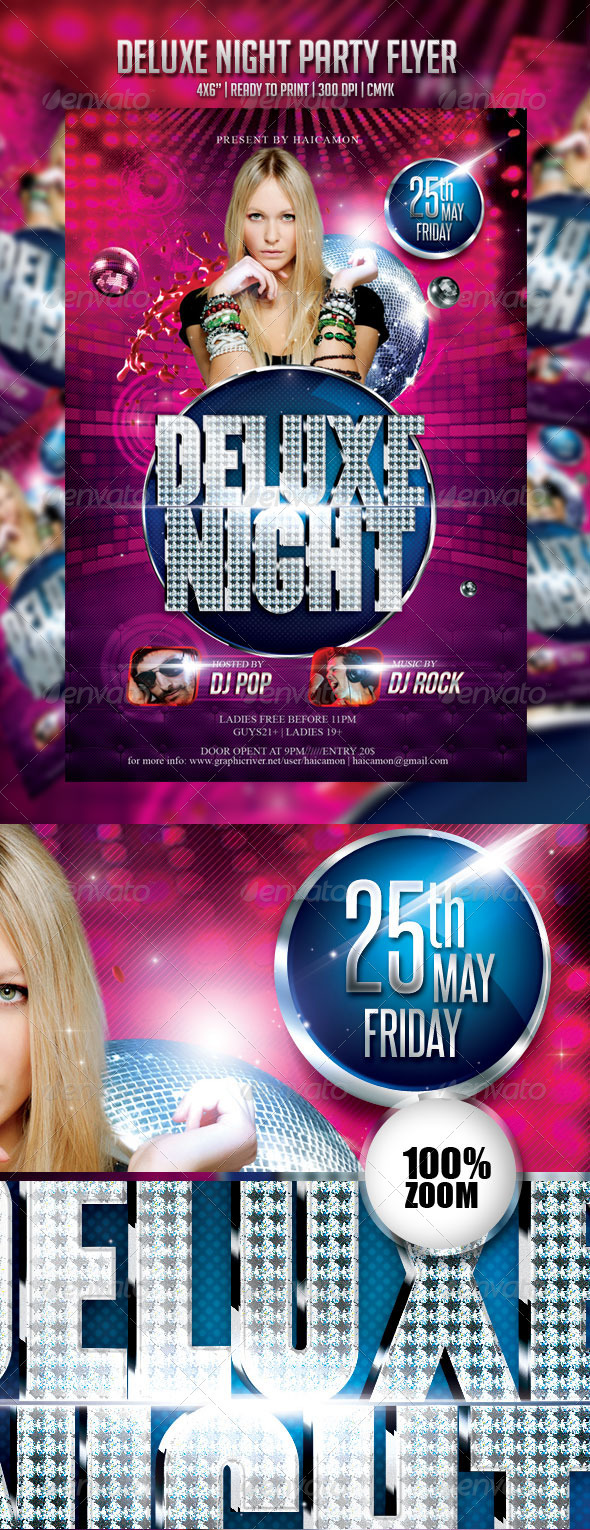 Deluxe Night Party Flyer - Events Flyers