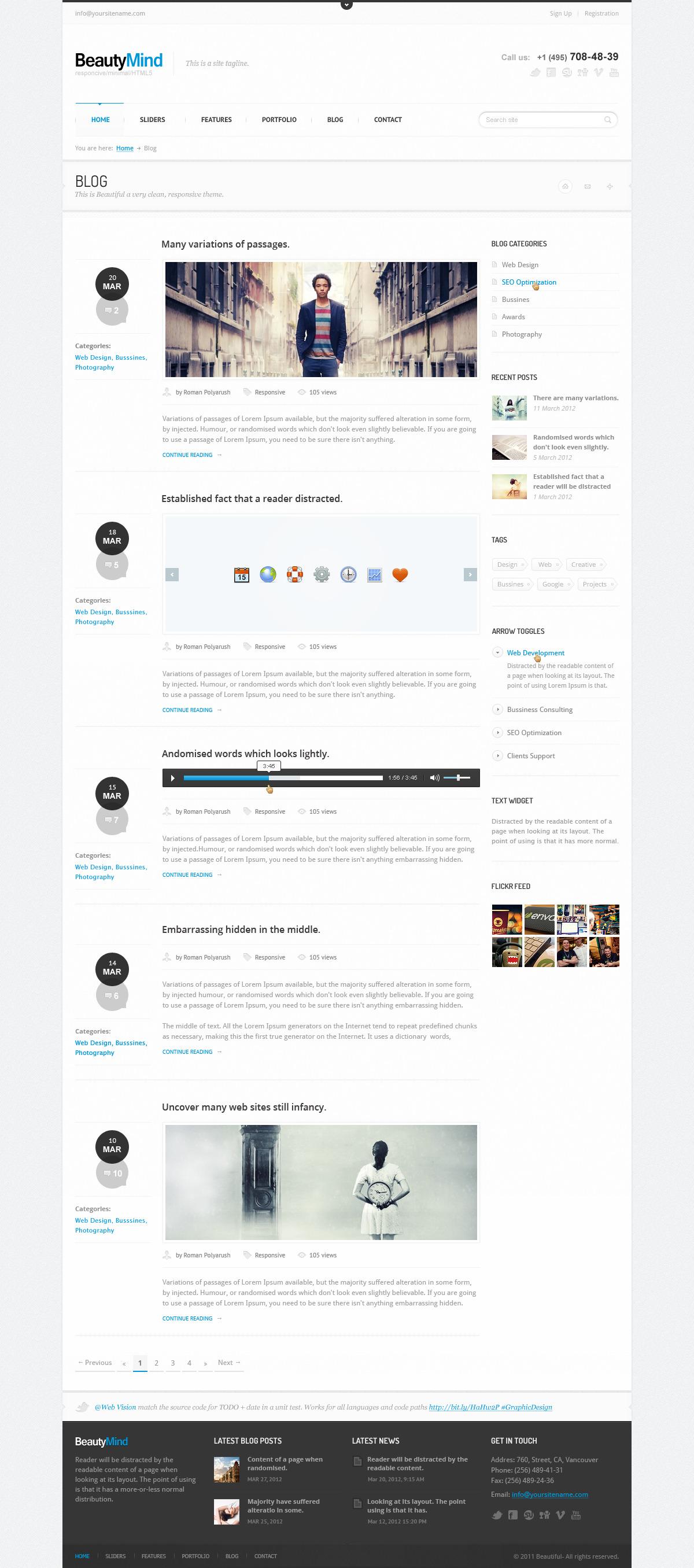 BeautyMind - Unique & Clean PSD Template