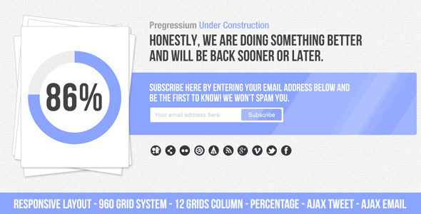 Progressium - Responsive Under Construction - Under Construction Specialty Pages