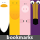 Animals Bookmarks x6, very nice and cute design! - GraphicRiver Item for Sale