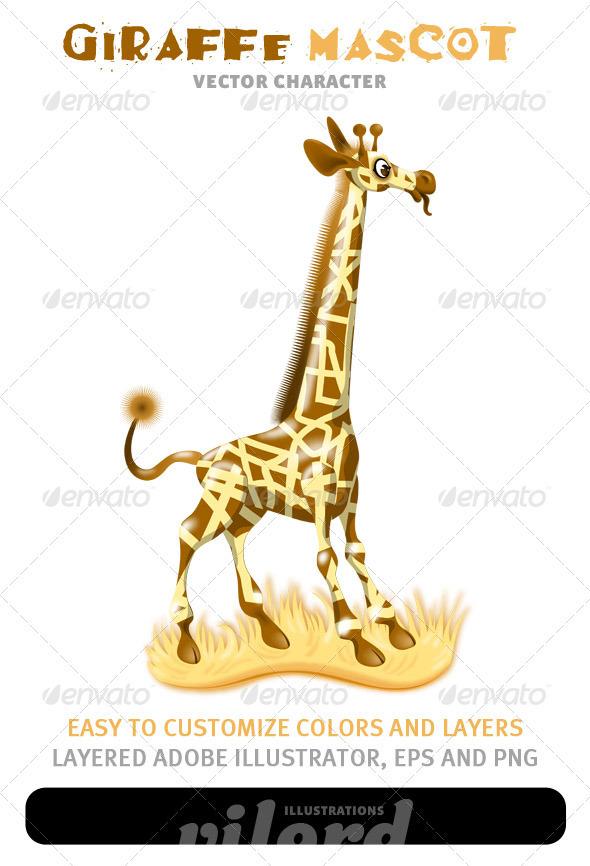 Giraffe Mascot - Animals Characters