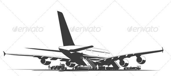 Airliner on Aerodrome - Travel Conceptual
