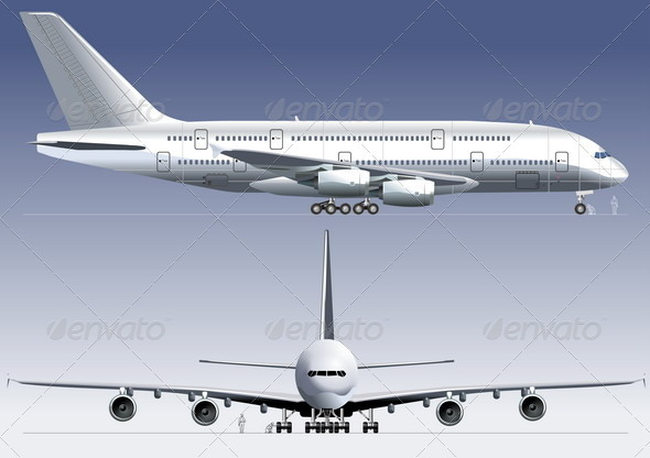 Jetliner a380 - Man-made Objects Objects