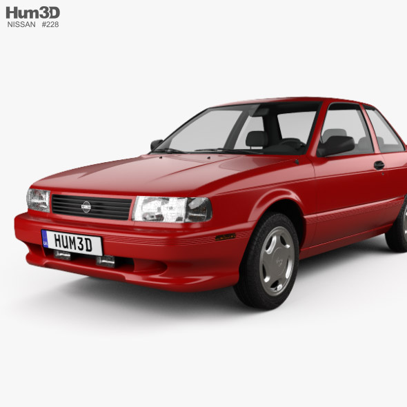 Nissan Sentra Se R Coupe 1990 By Humster3d 3docean When a sentra wears the nismo badge, it better look the part. nissan sentra se r coupe 1990