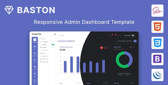 Baston - Admin & Dashboard HTML Template