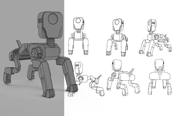 Robot Dog Aim