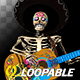 Skeleton Playing Guitar - Mexican Desperado - Transparent Loop - VideoHive Item for Sale