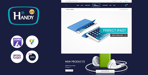 Handy Shop - Digital RTL Responsive WooComerce WordPress Theme