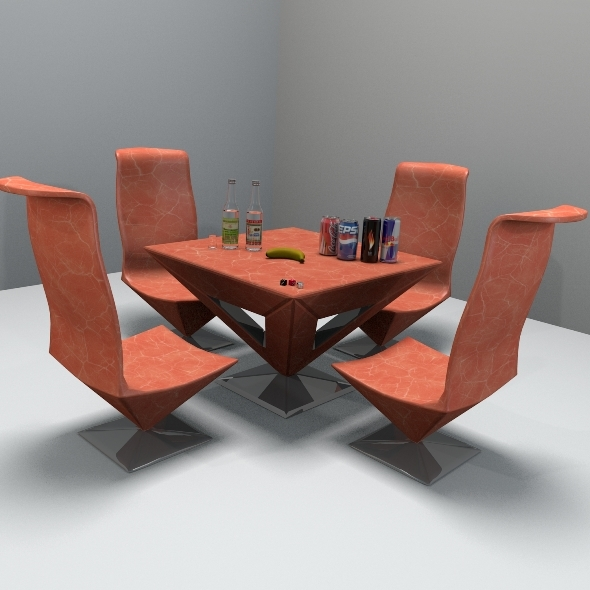 Pyramid Table And Chair - 3DOcean Item for Sale