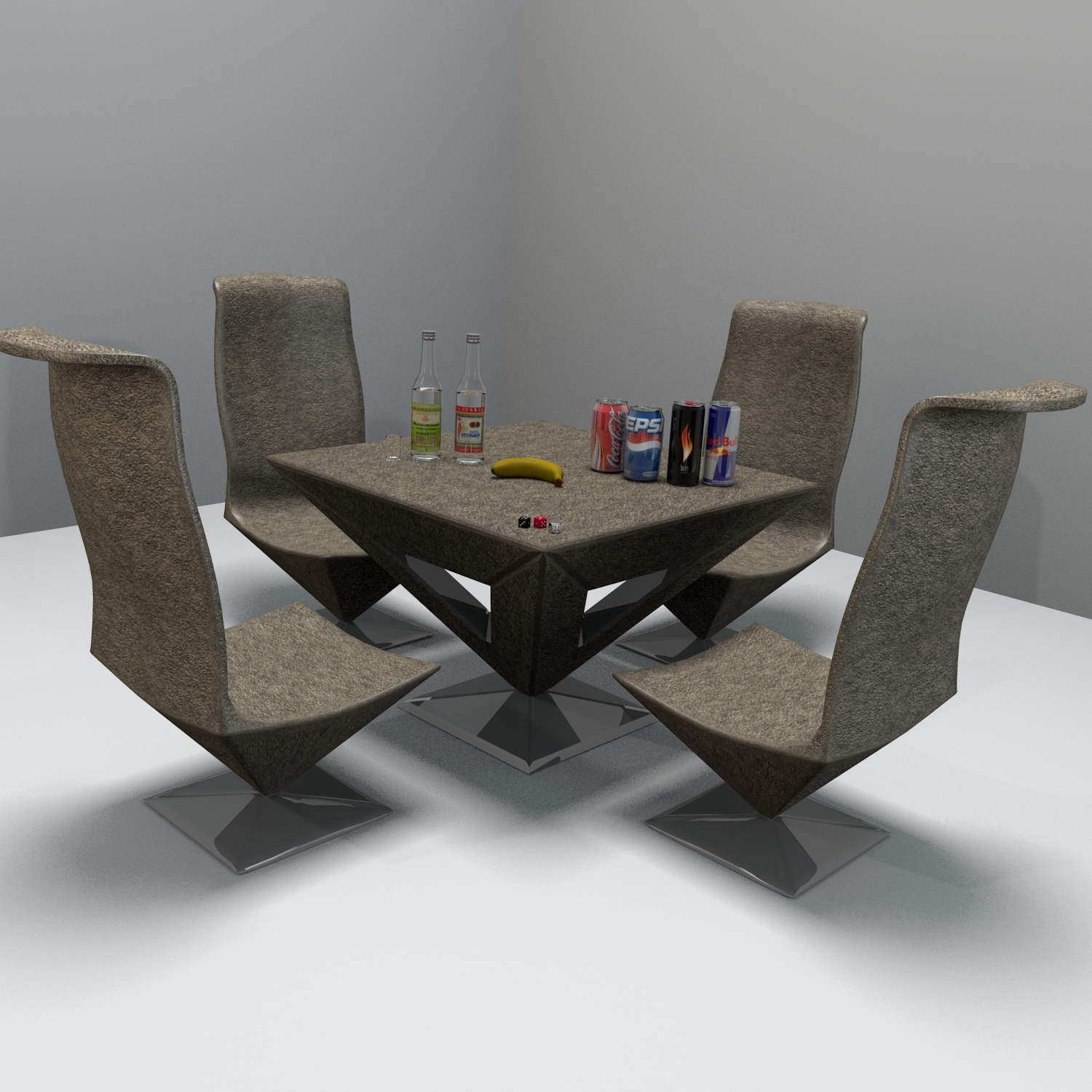 Pyramid Table And Chair by Reticulum