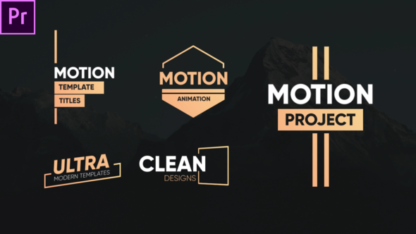 Clean Motion Titles-Premiere Pro