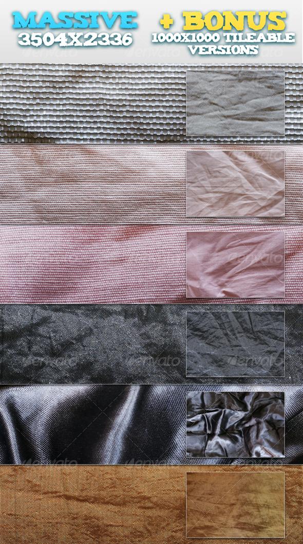 6 Wrinkled Fabrics + BONUS Tileable Versions - Fabric Textures