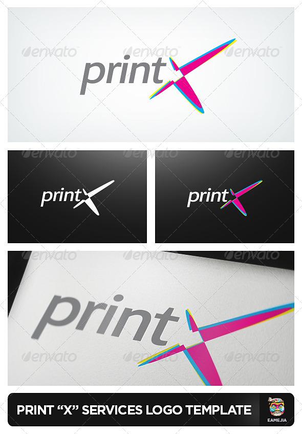 PrintX - Printing Services Logo - Logo Templates