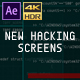 New Hacking Screens V2 (AE) - VideoHive Item for Sale