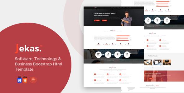 Extraordinary Software, Technology & Business Bootstrap Html Template - Jekas