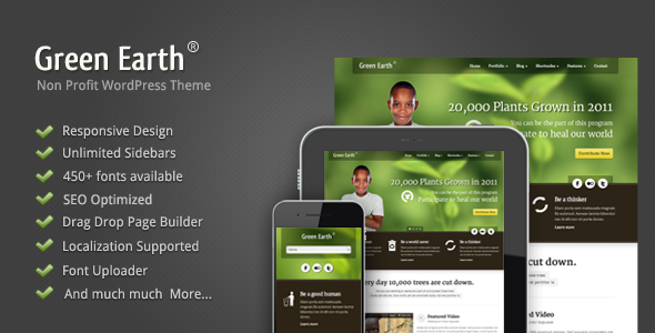 Image of Green Earth - Environmental WordPress Theme