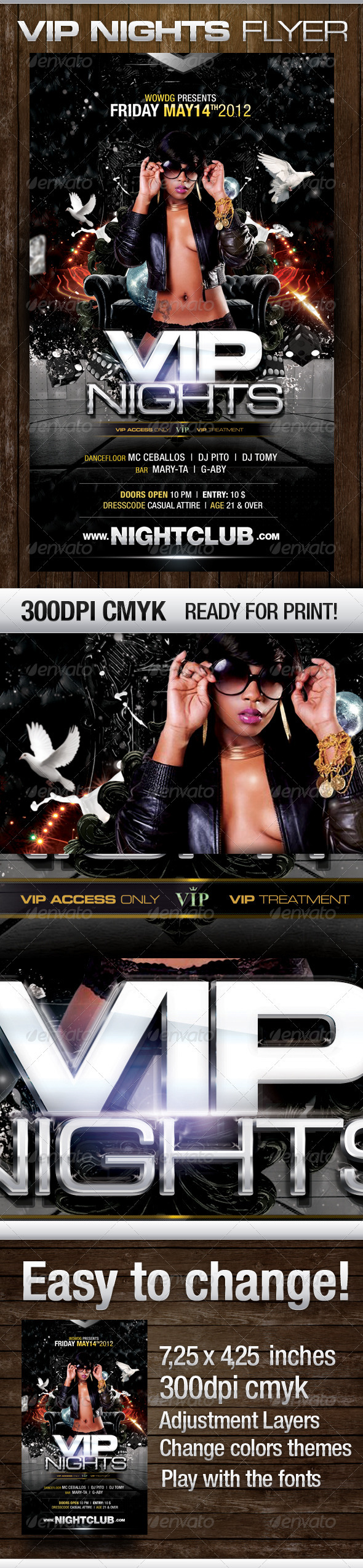 Vip Nights - Flyers Print Templates