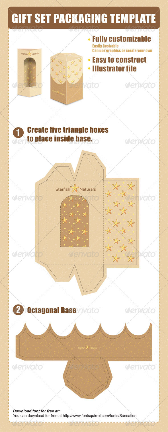 Gift Set Packaging Template - Packaging Print Templates