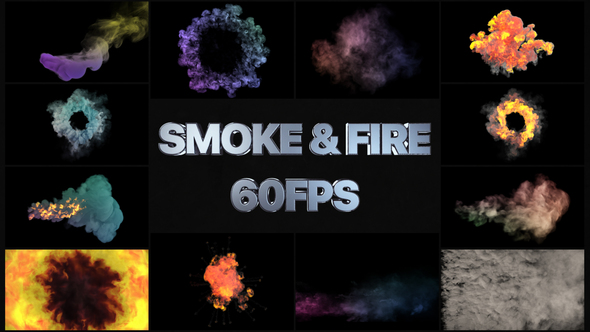 Smoke And Fire VFX Simulation | Premiere Pro MOGRT