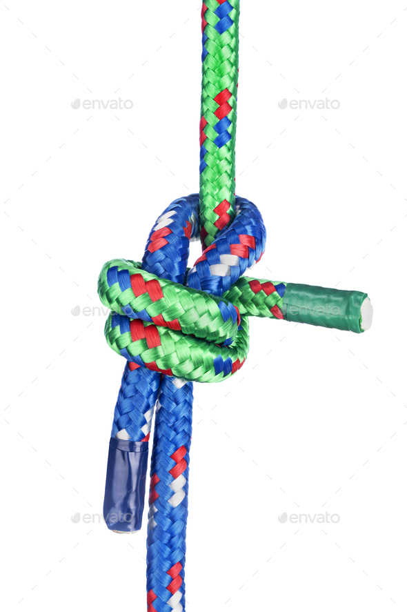 Sheet Bend Knot on white - Stock Photo - Images