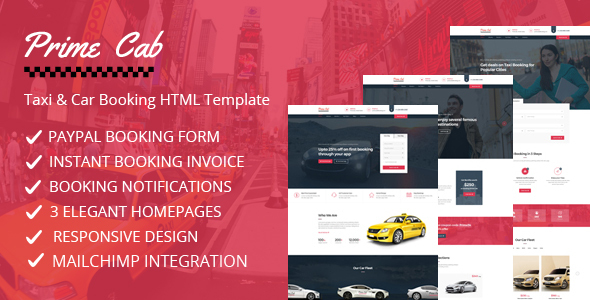 Prime Cab - Taxi | Car Booking PayPal Template