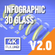 Infographics 3D Glass - VideoHive Item for Sale