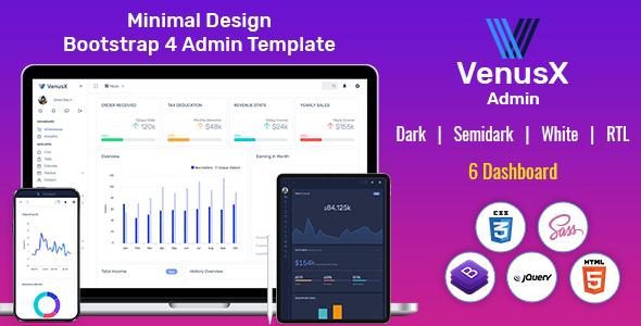 Super VenusX Admin - Responsive Web Application Kit