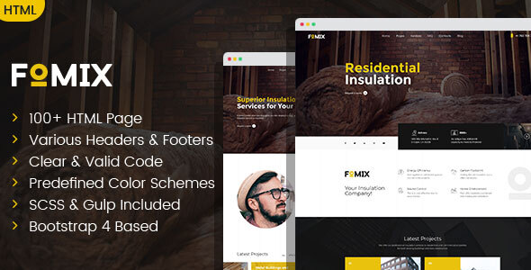 Excellent Fomix - House Insulation & Energy Efficiency HTML template