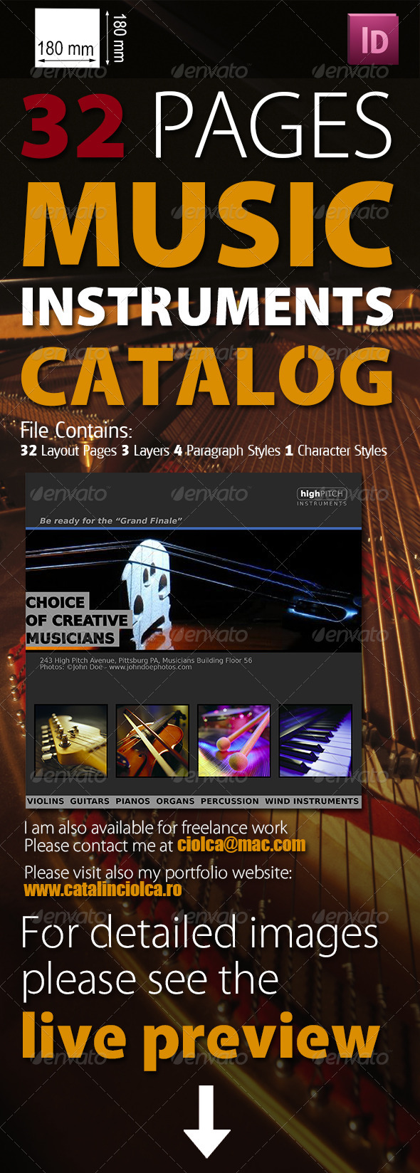 32 Pages Musical Instruments Catalog - Catalogs Brochures