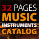 32 Pages Musical Instruments Catalog - GraphicRiver Item for Sale