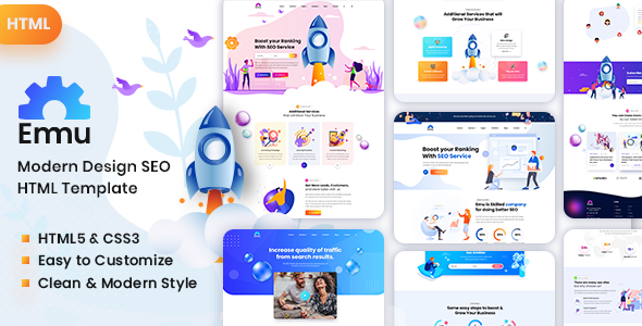 Emu - Marketing Agency HTML Template