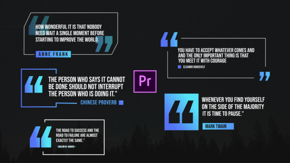 Quote Titles Pack- Premiere Pro