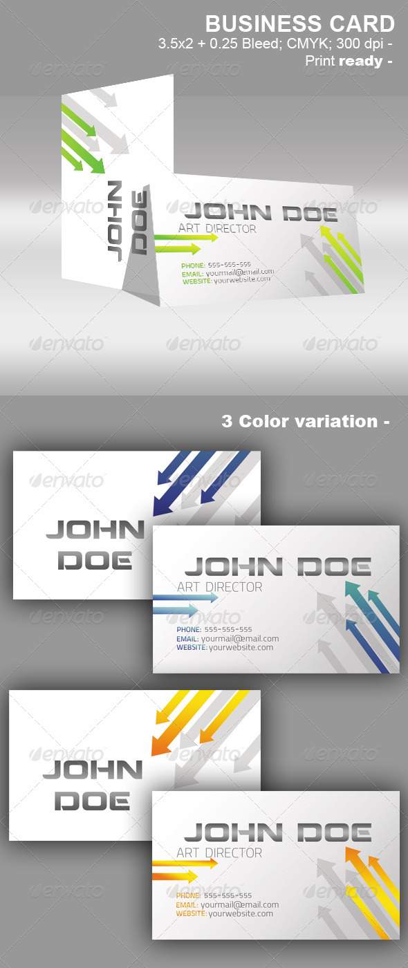 Arrow Business Card - Corporate Business Cards