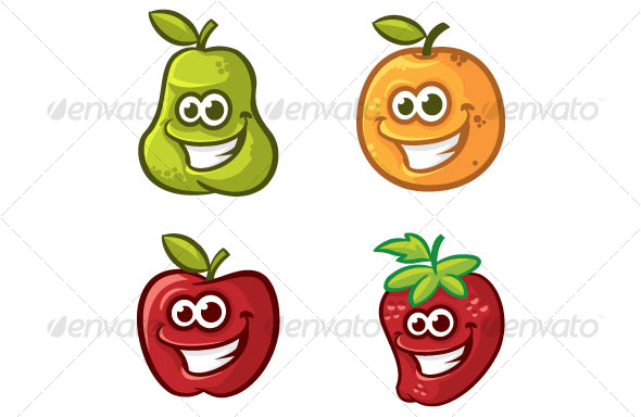 smiling fruits - Miscellaneous Characters