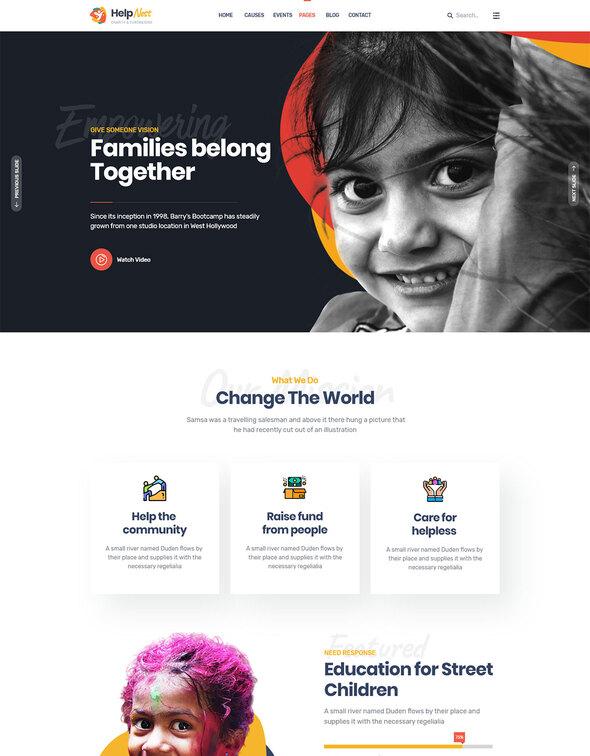 Helpnest - Charity Elementor Template Kit by XpeedStudio   ThemeForest