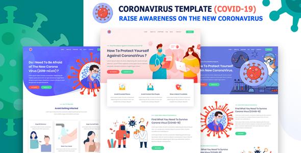 Exceptional Qovit - Coronavirus & COVID-2019 Medical Prevention Template