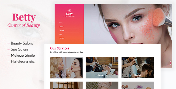 Betty Beauty Salon And Makeup Template By Duruthemes Themeforest