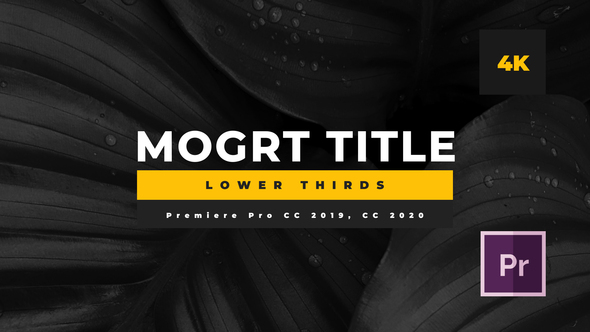 Minimal Mogrt Lower Thirds