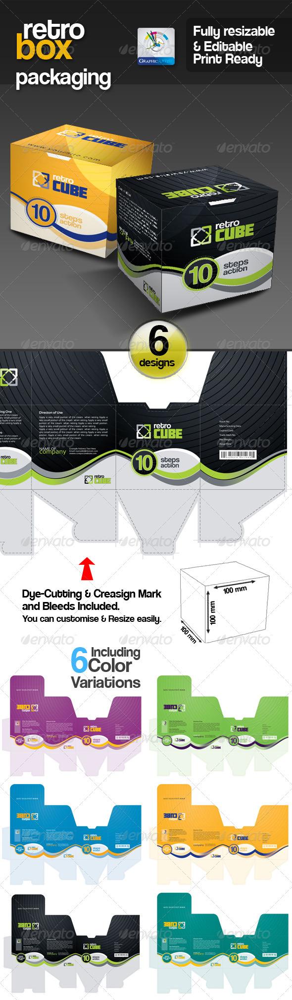 GA Retro Box Multipurpose Packaging - Packaging Print Templates
