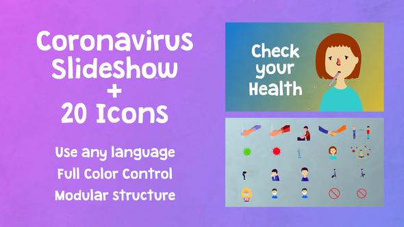 Coronavirus Slideshow | Premiere Pro MOGRT