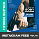 Instagram Feed Fitness Edition