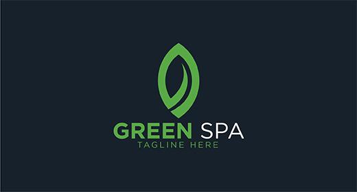 Green Spa Logo Design